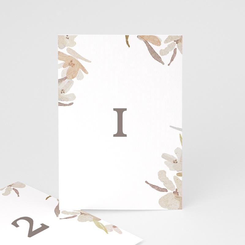 Marque table mariage Couronne de Fleurs d'Oranger, lot de 3