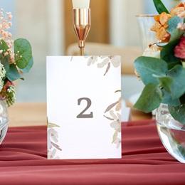 Marque table mariage Couronne de Fleurs d'Oranger, lot de 3 gratuit