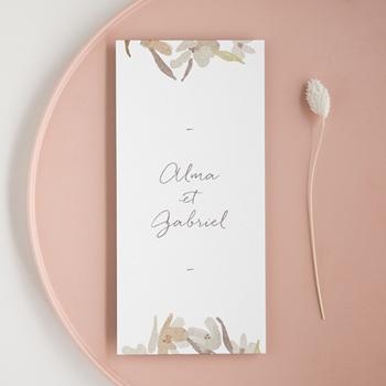 Menu mariage Couronne de Fleurs d'Oranger, repas