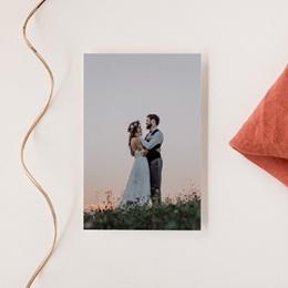 Carte de remerciement mariage Couronne de Fleurs d'Oranger, Portrait