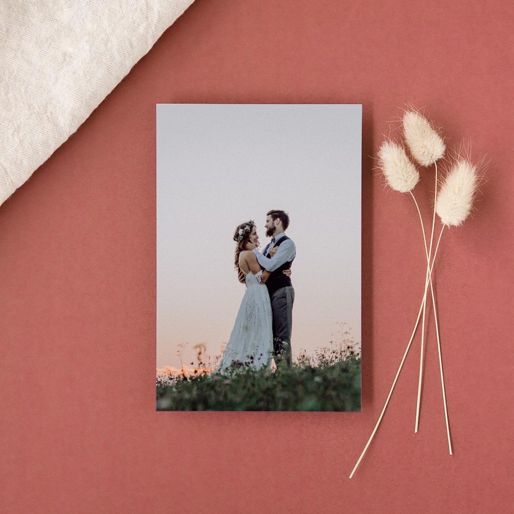 Carte de remerciement mariage Couronne de Fleurs d'Oranger, Portrait gratuit