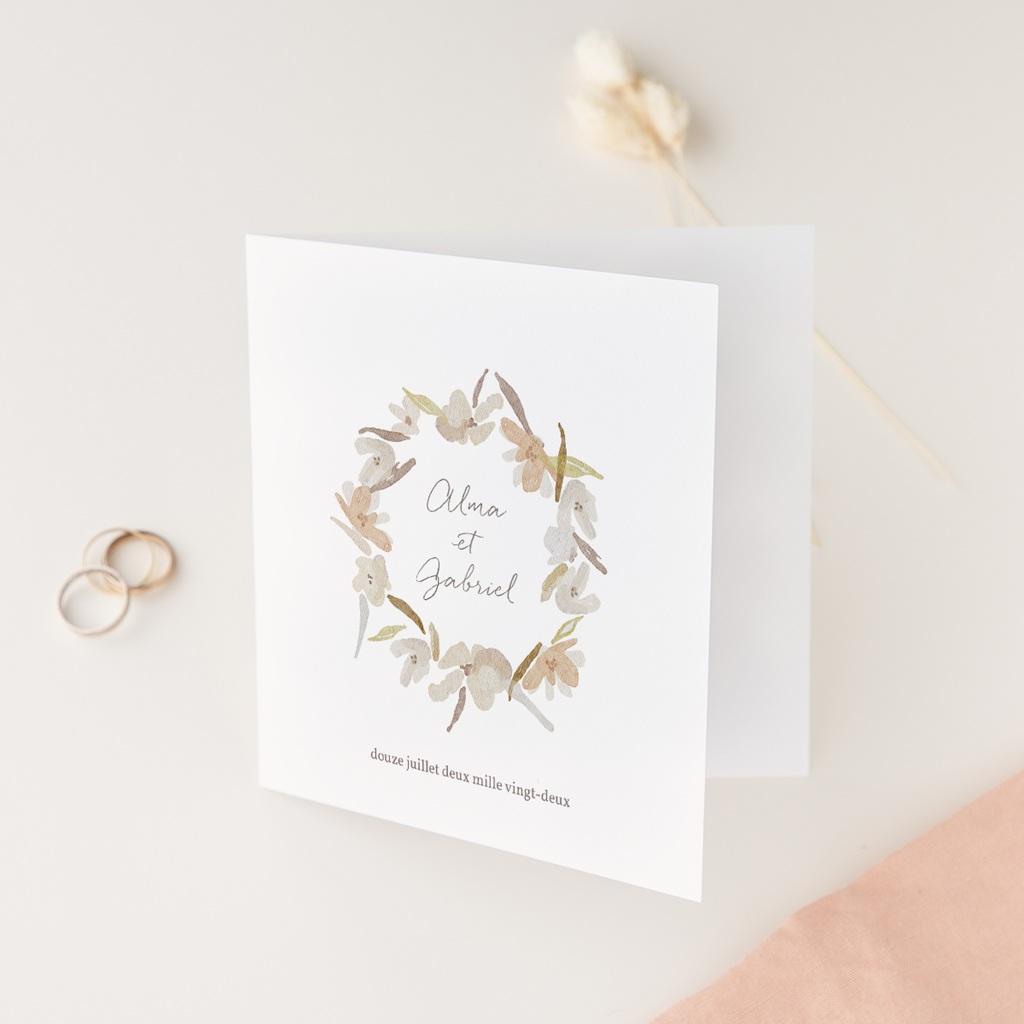 Faire-part de mariage Couronne de Fleurs d'Oranger