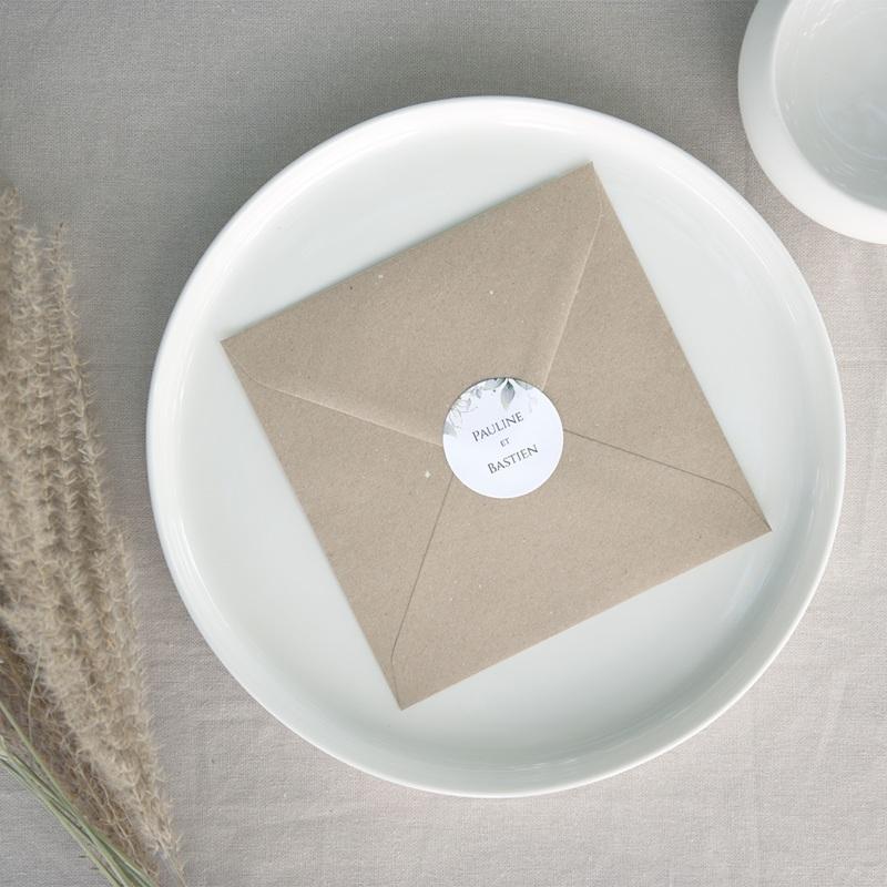 Etiquette enveloppes mariage Provence Champêtre, ø 4,5 cm