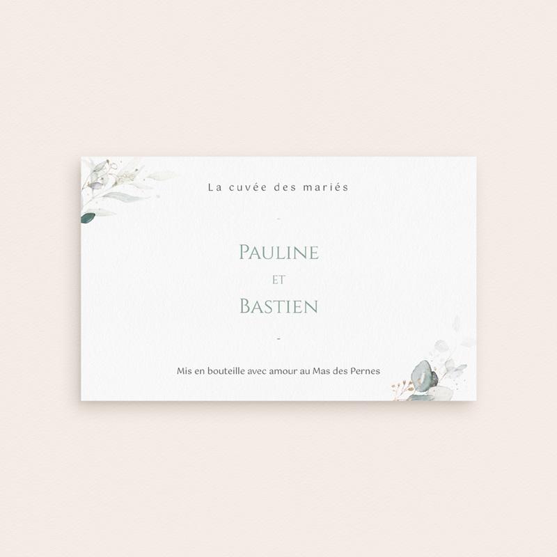 Etiquette bouteille mariage Provence Champêtre, Champagne ou Vin pas cher