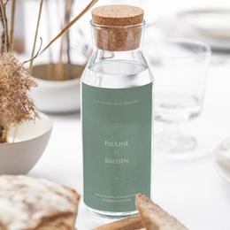 Etiquette bouteille mariage Provence Champêtre, Vin ou Eau gratuit
