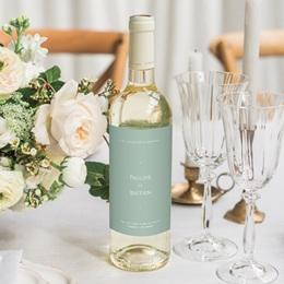 Etiquette bouteille mariage Provence Champêtre, Vin ou Eau