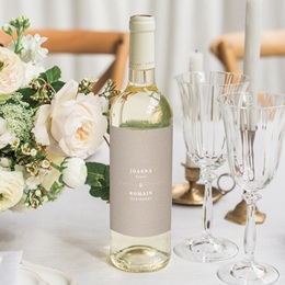 Etiquette bouteille mariage Kraft Folk, Vertical, 8 x 13 cm