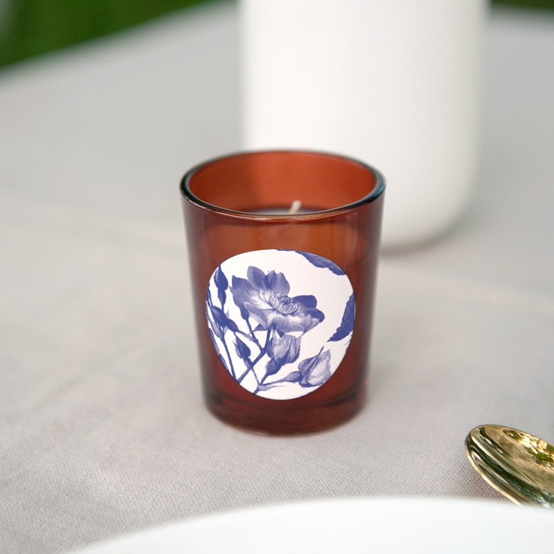 Etiquette enveloppes mariage Rhapsody, fleur Bleue gratuit