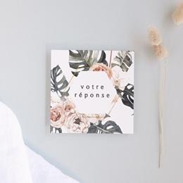 Carton réponse mariage Bohème Fleuri, 10 x 10 cm