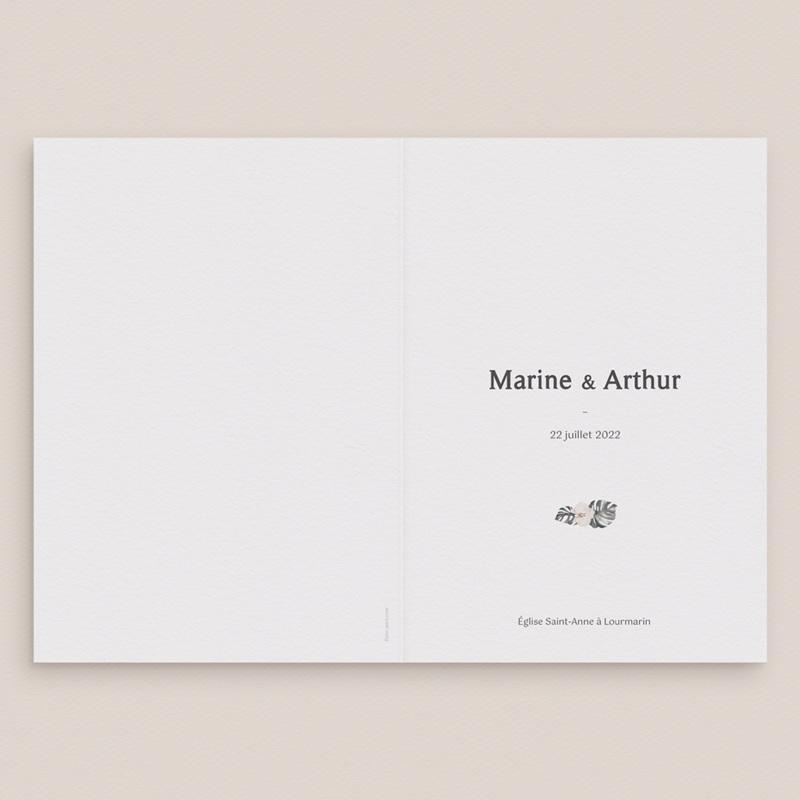 Livret de messe mariage Bohème Fleuri, 15 x 22 cm gratuit