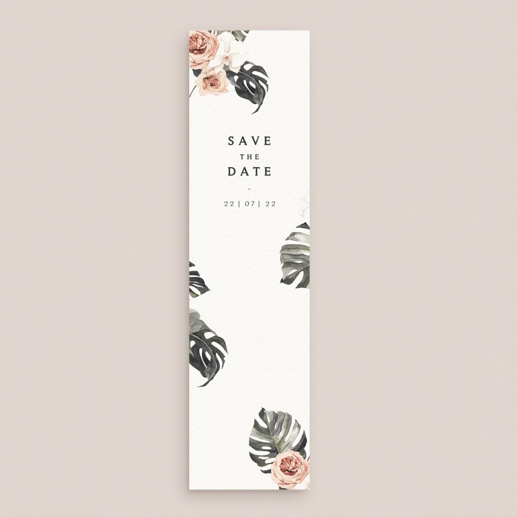 Save-the-date mariage Bohème Fleuri, Date à retenir gratuit