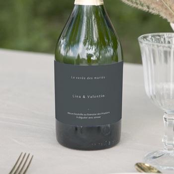 Etiquette bouteille mariage Matcha & Champagne