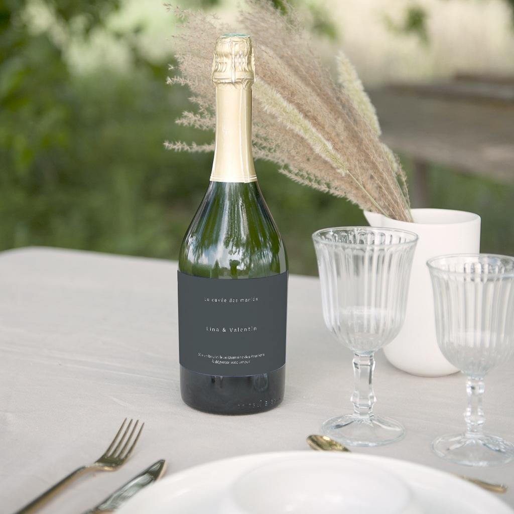 Etiquette bouteille mariage Matcha & Champagne gratuit