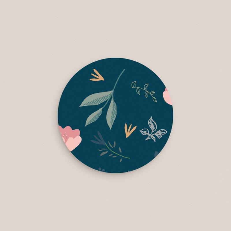 Etiquette enveloppes mariage Chabada, Floral pas cher