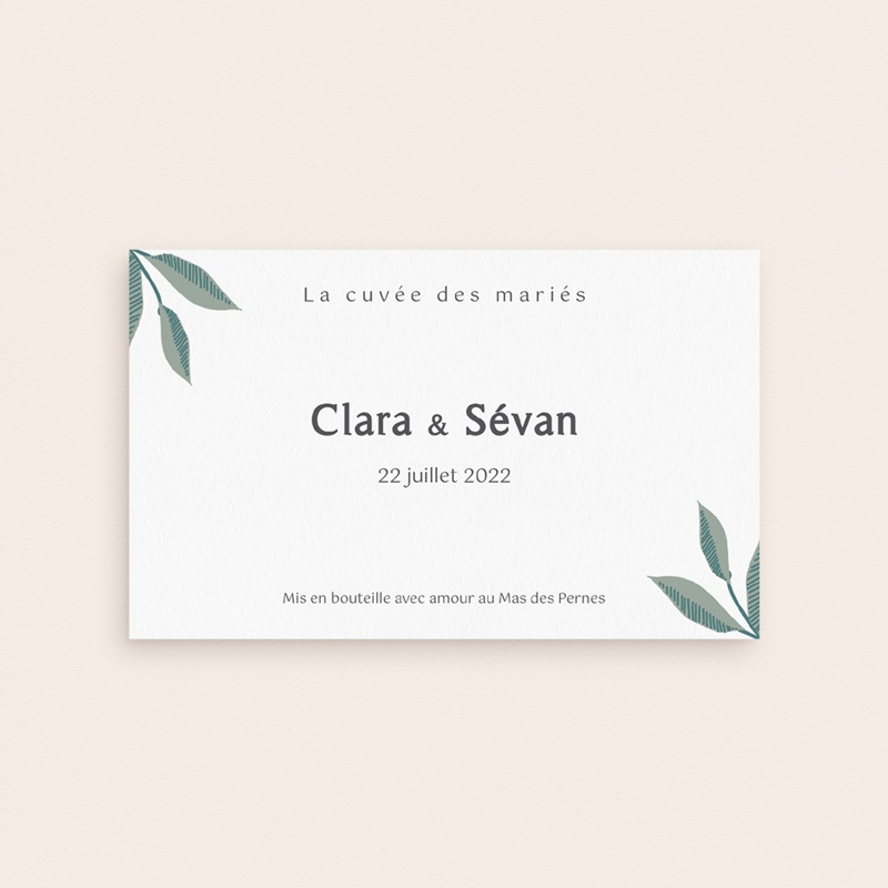 Etiquette bouteille mariage Chabada & Champagne pas cher