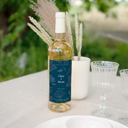 Etiquette bouteille mariage Chabada & Vin