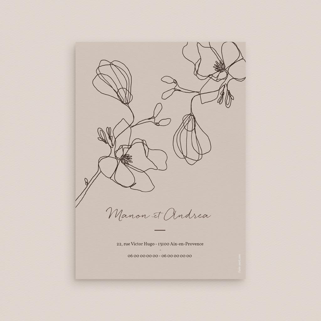Faire-part de mariage Empreinte Cerisier, 12 x 16,7 cm pas cher
