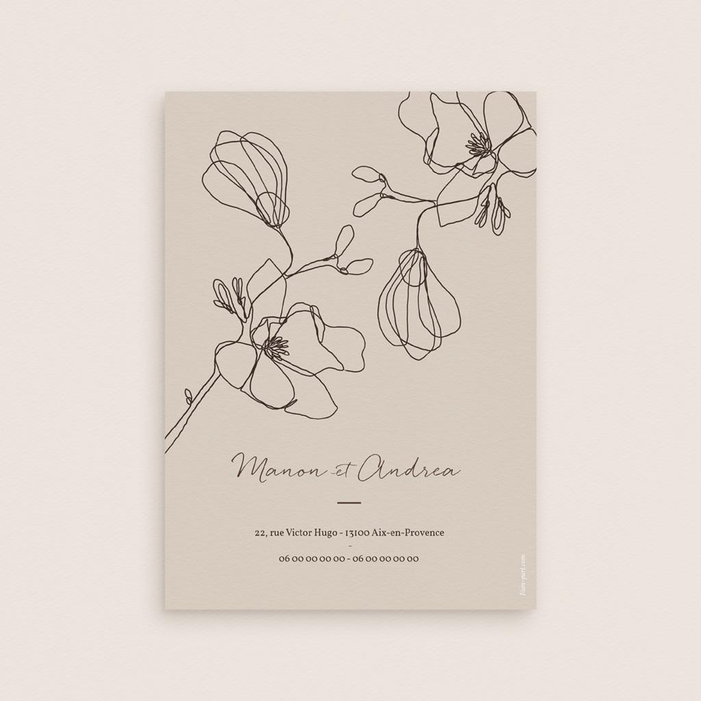 Faire-part de mariage Empreinte Cerisier, 12 x 16,7 cm