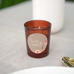 Etiquette enveloppes mariage Fleurs d'aquarelle Kraft, 4,5 cm gratuit