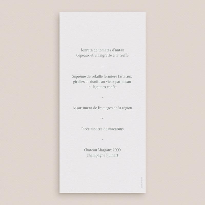 Menu mariage Monnaie du Pape & Gypsophile, 10 x 21 pas cher