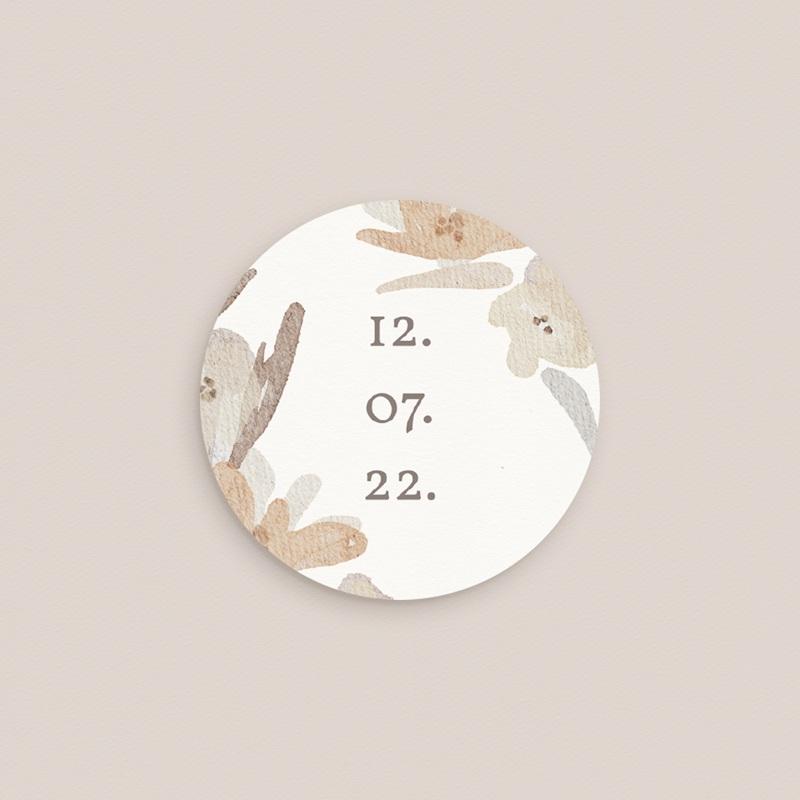 Etiquette enveloppes mariage Couronne de Fleurs d'Oranger, Sticker pas cher