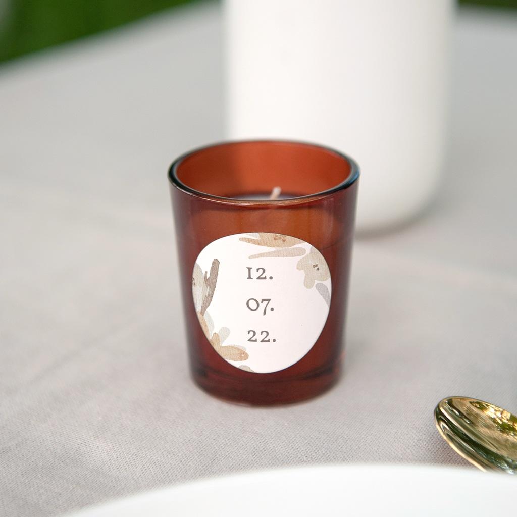Etiquette enveloppes mariage Couronne de Fleurs d'Oranger, Sticker gratuit