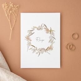Carton réponse mariage Couronne de Fleurs d'Oranger, Rsvp