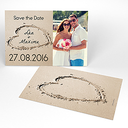 Save-the-date mariage La Plage