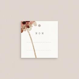 Marque-place mariage Invité Placé, Arche de fleurs pourpres gratuit