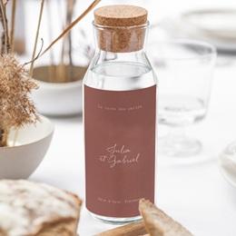 Etiquette bouteille mariage Vin, Arche de fleurs pourpres gratuit