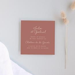 Carte d'invitation mariage Réception, Arche de fleurs pourpres