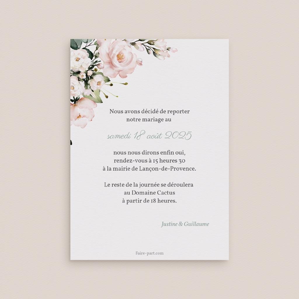 Change the date mariage Kraft et Rose, date nouvelle pas cher