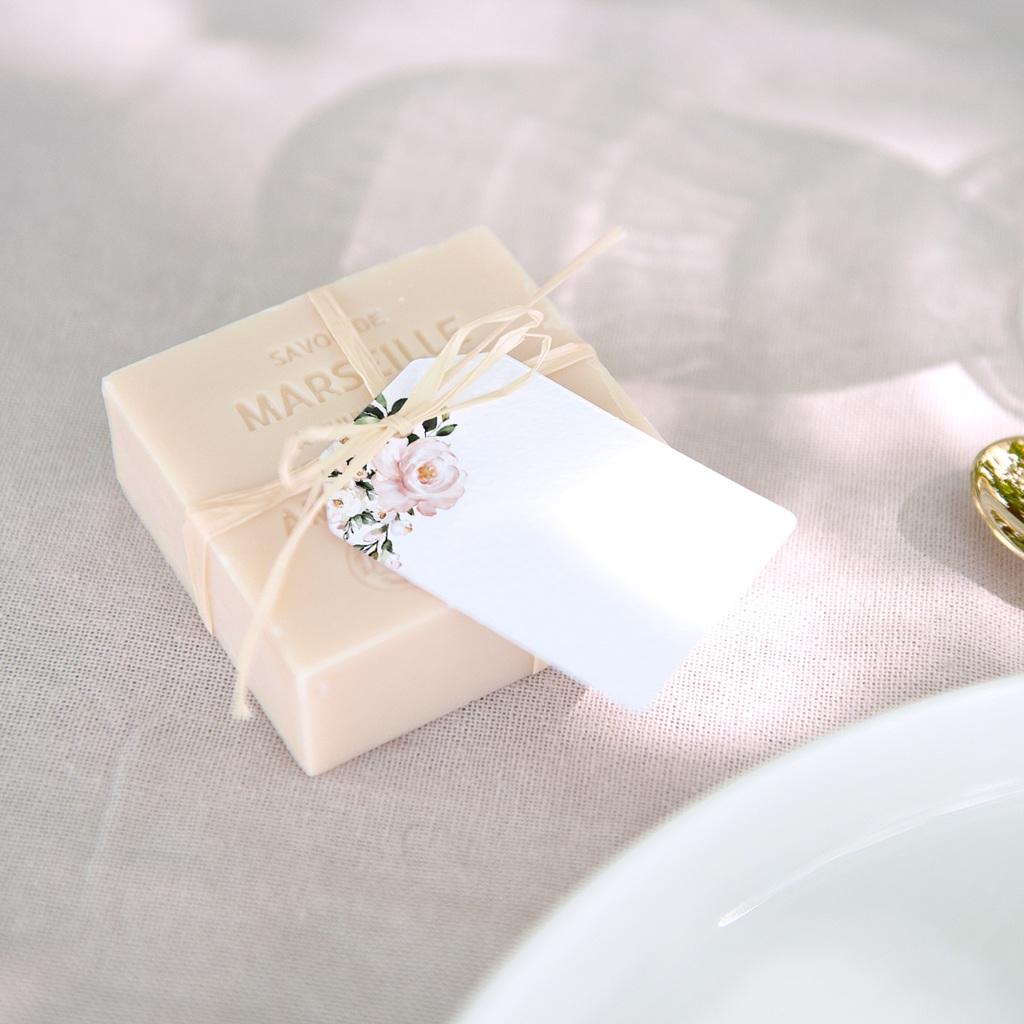 Marque-place mariage Kraft et Rose, invité dîner