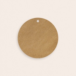 Etiquettes cadeaux mariage Kraft et Rose, 4,5 cm, perforée pas cher