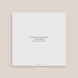Faire-part de mariage Kraft et Rose, double volet, 14 x 14 cm gratuit
