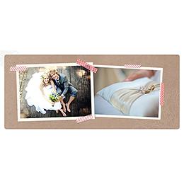 Carte de remerciement mariage Bois de Rose  gratuit
