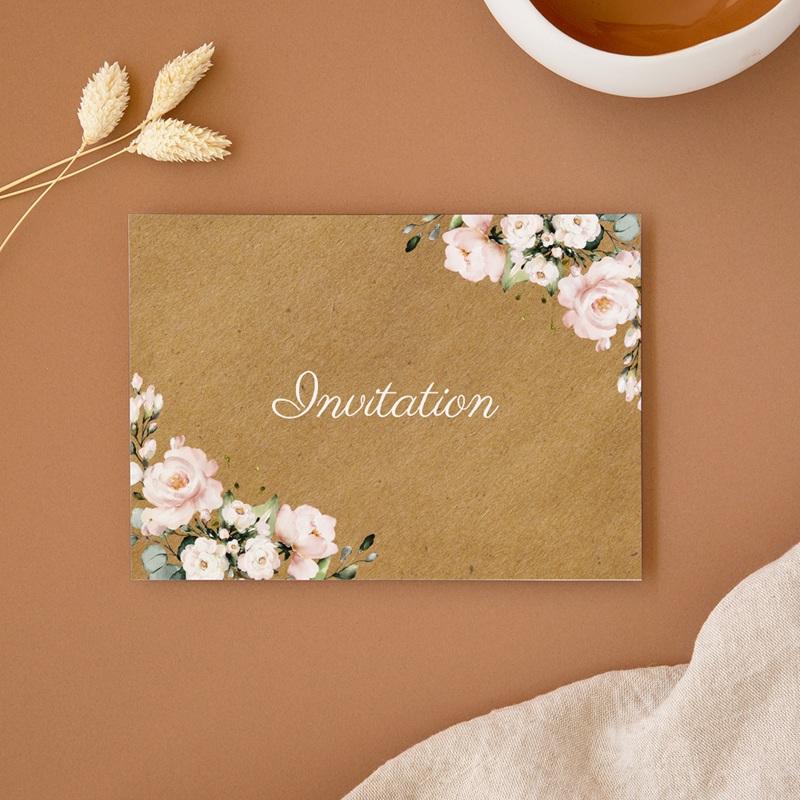 Carte invitation Brunch Kraft & Rose, Brunch