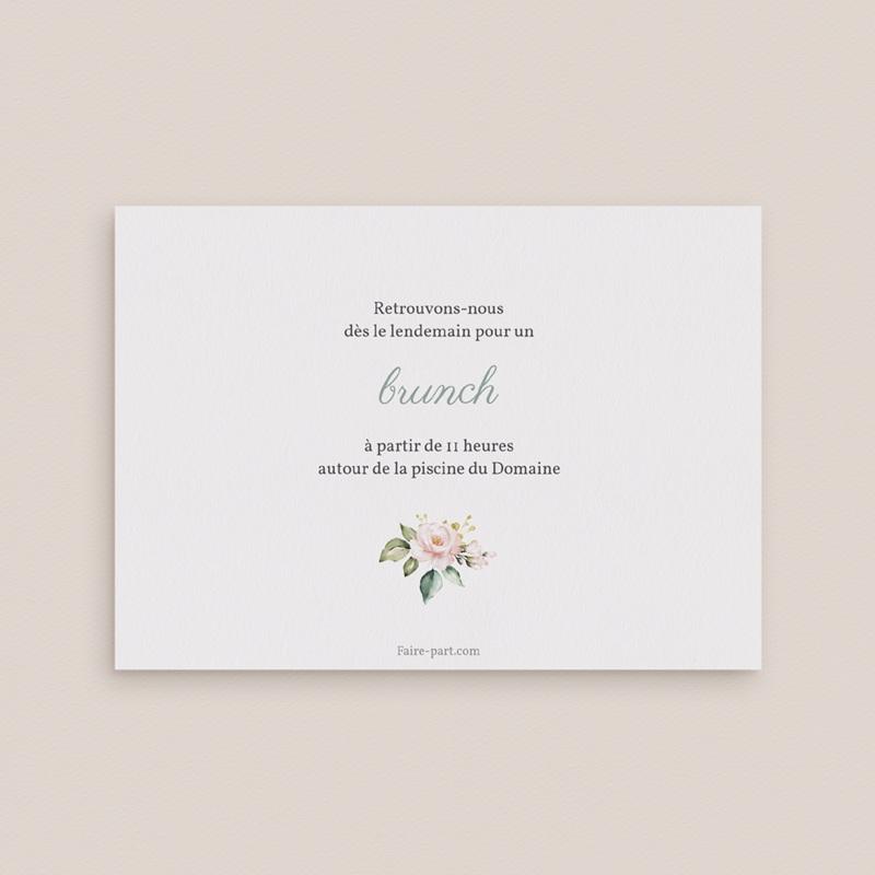 Carte invitation Brunch Kraft & Rose, Brunch pas cher