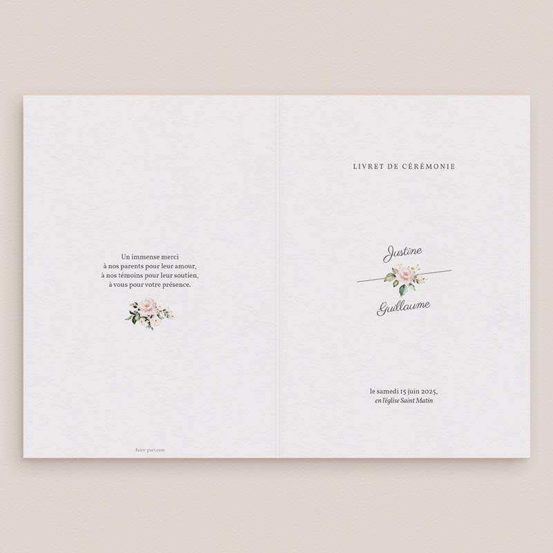 Livret de messe mariage Kraft et Rose, Couverture gratuit