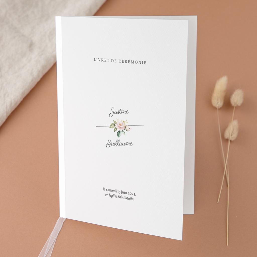 Livret de messe mariage Kraft et Rose, Couverture