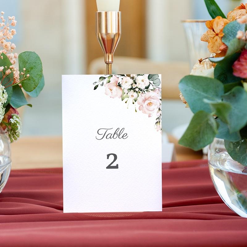 Marque table mariage Kraft et Rose, lot de 3 repères gratuit