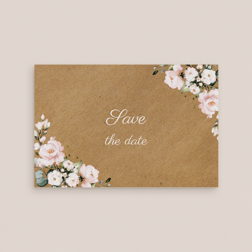 Save-the-date mariage Kraft et Rose, Jour J