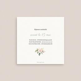Carton réponse mariage Kraft et Rose, Rsvp, 10 x 10 pas cher