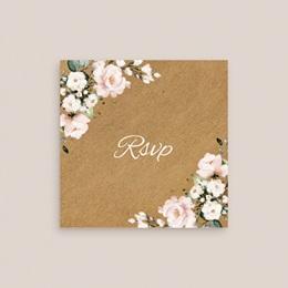 Carton réponse mariage Kraft et Rose, Rsvp, 10 x 10 gratuit