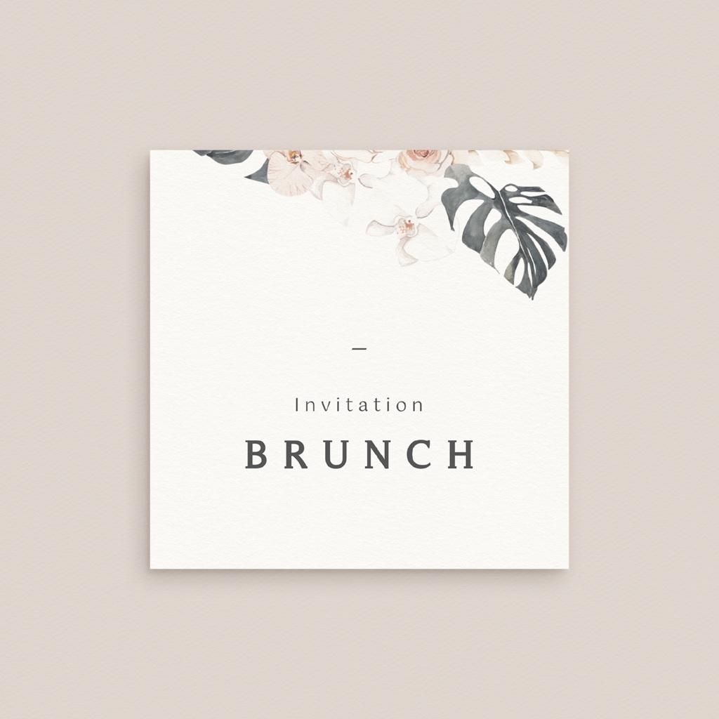 Carte invitation Brunch Bohème Fleuri, brunch gratuit