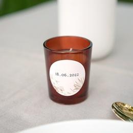 Etiquette enveloppes mariage Bois de Santal, ø 4,5 cm gratuit