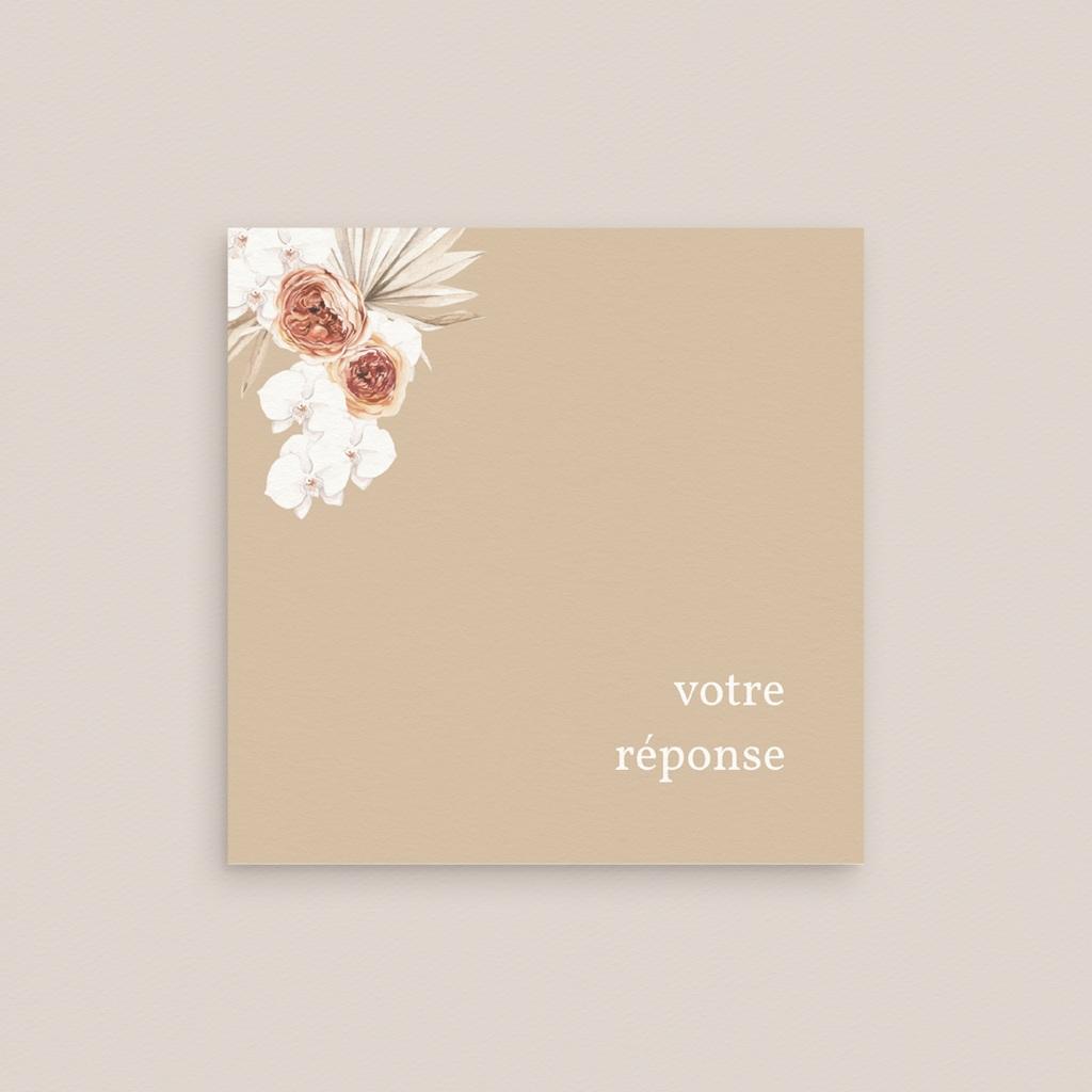 Carton réponse mariage Bois de Santal, 10 x 10 gratuit
