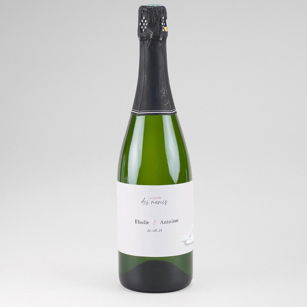 Etiquette bouteille mariage Youpi, du champagne!
