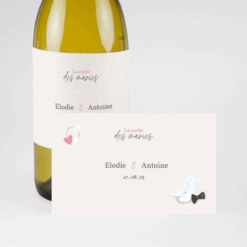 Etiquette bouteille mariage Youpi, du champagne! pas cher