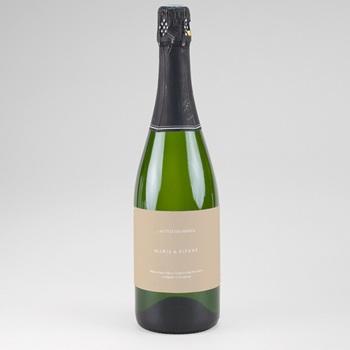 Etiquette bouteille mariage Bois de Santal, Champagne & Vin